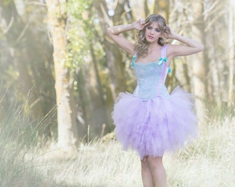 "Tutú Skirt Tulle Lilac ""Cotton Candy"" Vintage Romantic Princess Wedding Fantasy"