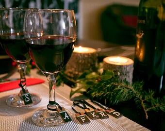 Wooden Chalkboard Wine Charm