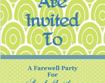 Printable Generic Invitation - Can be Customized to your Occasion - Any Occasion (Digital File)