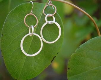 Silver & Copper Earrings