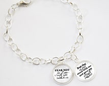 Scripture Bracelet Scriptures of Strength - charm bracelet - get well soon gifts -  gifts for mom -  biblical gifts