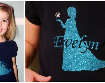 Personalized Frozen Inspired Disney Silhouette Iron On