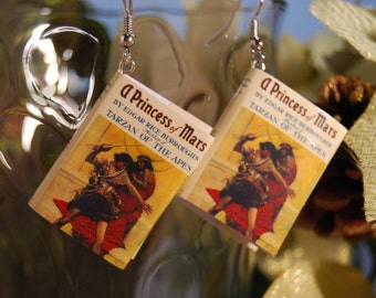 Princess of Mars Book Earrings