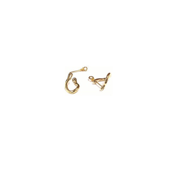 unisex 14k gold nautical shackle earrings by jewelryyourstyle