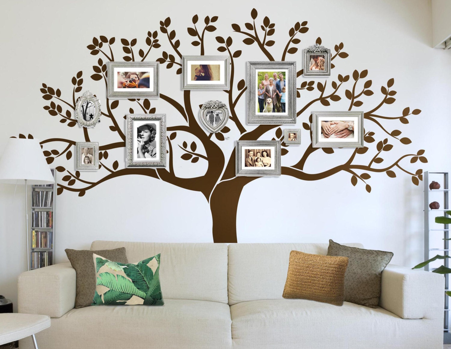 Photo frame family tree decal wall decals wall decor zoom amipublicfo Choice Image