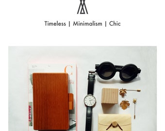 NATURE COLLECTION--Handmade Minimalism Wooden Clutch Box