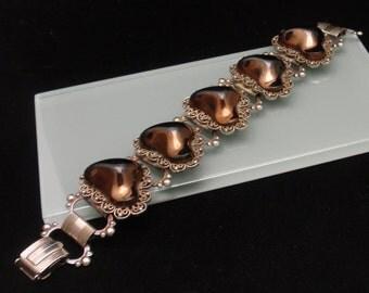 Bronze Nuggets Filigree Bracelet Vintage