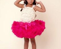Pink Tutu, Baby Girl's PREMIUM raspberry pink pettiskirt, tutu, baby girls pettiskirt, petticoat, tutu dress, pink baby girls tutu, twins