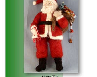 Make Santa  from a Woolly People needle felting  Kit