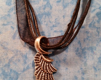 Single Angel Wing Necklace