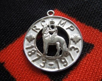 Sterling RCMP Charm Figural Royal Canadian Mounted Police 1873-1973 Cut Out Sterling Silver Charm for Bracelet from Charmhuntress 01132