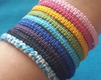Macrame Colored Hemp Bracelets/ Anklets