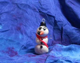 Polymer Clay Snowman Ornament