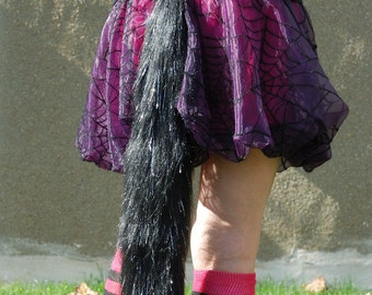 Faux fur animal tail with belt loop - choice of color