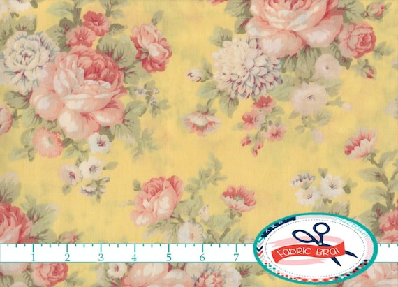 SHABBY ROSE Fabric By The Yard Fat Quarter FLORAL Pink