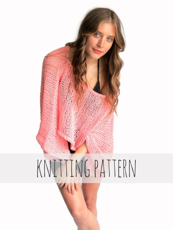 PATTERN for Loose Knit Summer Sweater Top Oversized Boho //