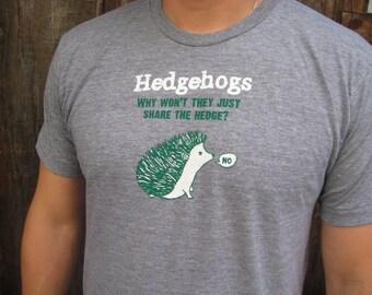 Cute hedgehog shirt. Funny shirt. Hand drawn.