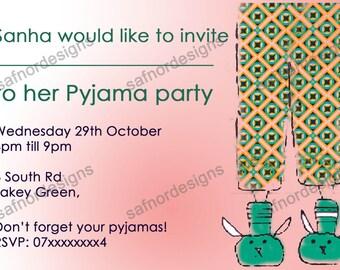 DIY Printable Pyjama Party Invitation