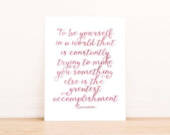 Ralph Waldo Emerson Printable, Instant Download, Inspirational Quote, Emerson Quote, Watercolor Print , Emerson Printable, Dorm Decor