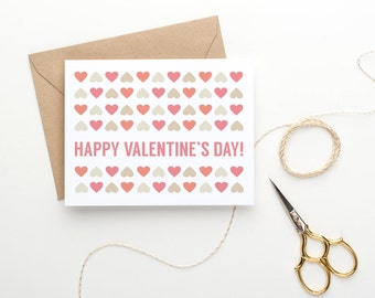 Printable Valentine's Card For Her - Hearts Galore - PDF Download