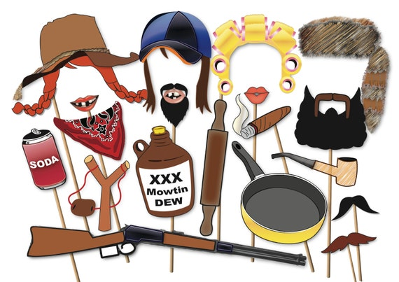 Hillbilly Redneck Photo Booth Props Party Set By