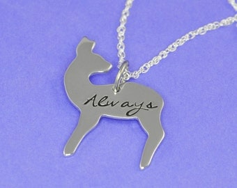 Doe Patronus Keychain or Necklace - Always Hand Stamped Necklace