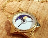 Preorder / Sailor Moon Tuxedo Mask Star Locket Pocket Watch Necklace [FREE SHIPPING]