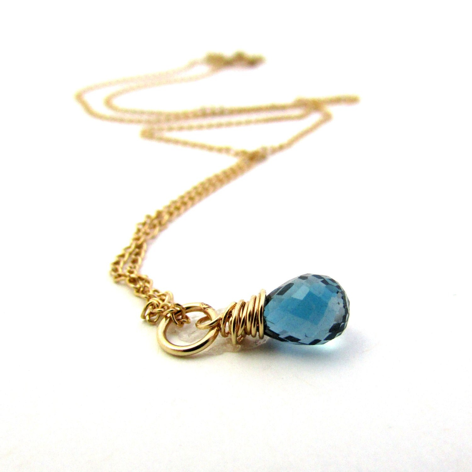 december birthstone jewelry blue topaz necklace