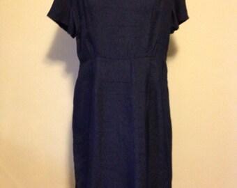 Blue 1960s Dress and Bolero Set