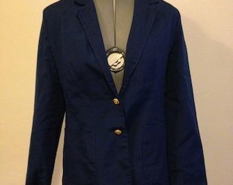 Navy Blue 1970s/1980s Blazer