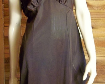 Vintage Lingerie 1950s SEAMPRUFE Brown Full Slip Size 36 Short ~ Has Tags