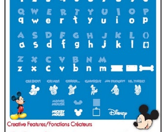 Disney Mickey Mouse FONT Alphabet Cricut Cartridge Scrapbooking Cards Baby Nursery Birthday Parties Tags Minnie Pluto Goofy Vacation Donald
