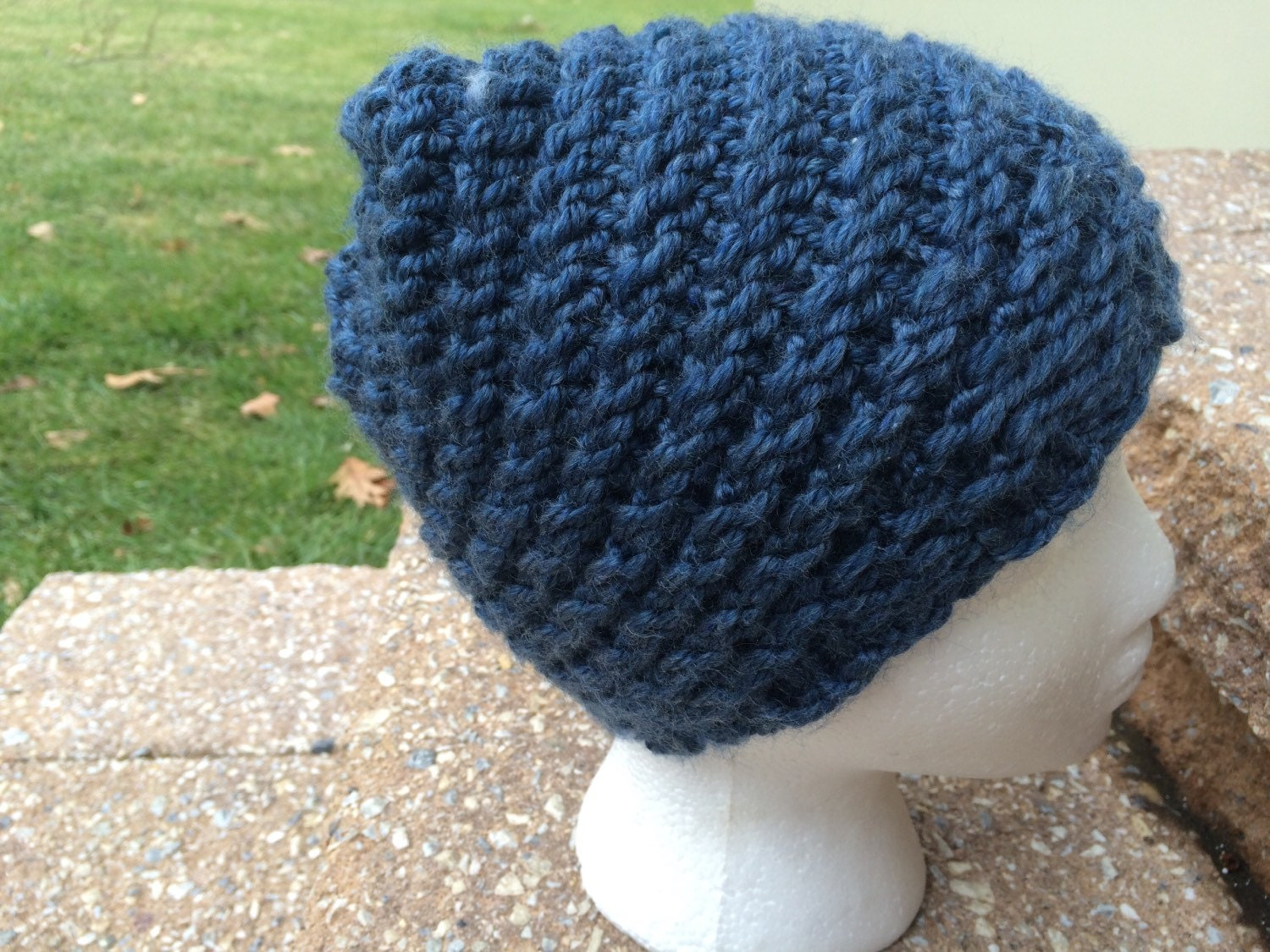 Loom Knitting For Kids : Blue spiral loom knit children s hat