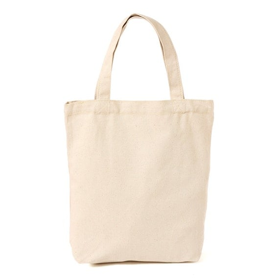 Blank Canvas Plain Tote Bag 100% Soft Heavyweight by CanvasAvenue