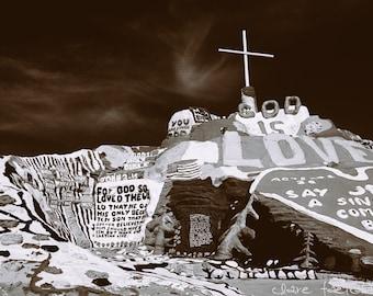 God is Love Salvation Mountain Photograph
