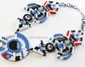 Beep Boop - R2D2 inspired perler beads necklace