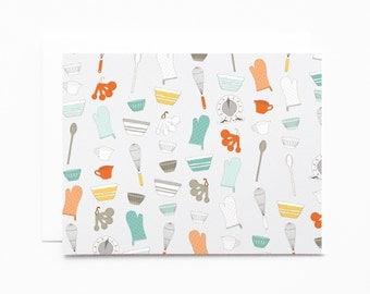 Baker's Notecard Set | Illustrated Notecards, Baker's Stationery : The Baker's Pattern