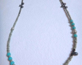 Handmade Japanese Glass Beaded Necklace