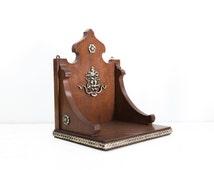 Antique English Wall Bracket Shelf