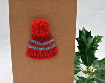 Winter Wooly Hat Christmas Card