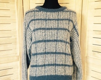 Blue Check Pattern Jumper