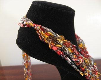 Trellis Necklace / Crochet Necklace Item No. 105B
