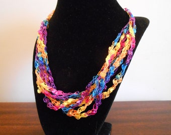 Trellis Necklace / Crochet Necklace Item No. 116 Perfect for Easter or Mother's Day