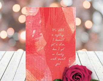 Lucky to have Found You | Lovely Greeting Card