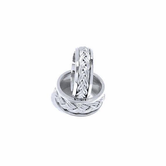 Wedding Rings Set Hand Woven Turks Head Ring Wedding By Nautigold