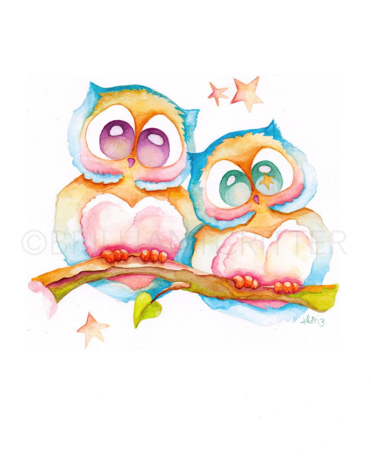 cute owl paintings the image kid has it. Black Bedroom Furniture Sets. Home Design Ideas