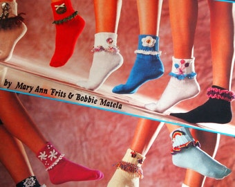 Sock Trims In Thread Crochet By Mary Ann Frits And Bobbie Matela Crochet Pattern Booklet 1990