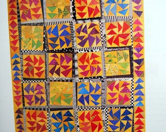 Cut-Loose Quilts Stack, Slice, Switch, And Sew By Jan Mullen Paperback Quilting Book 2001