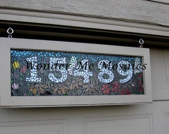Stained Glass Mosaic Home Number Sign - Commission your own home sign