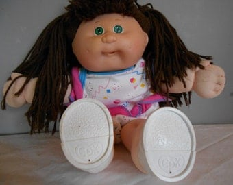Cabbage Patch Kid Brown Hair Green Eyes with Headmold 4 Toddler Series